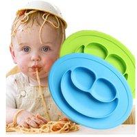 Детские силиконовые цельные ужин, детское дополнительный пищевой отсек всасывающая чаша, анти-осень и нескользящая детская посуда