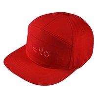 LED 모자 프로그램 스크롤 메시지 표시 보드 야구 힙합 파티 모자 # YJ2 201023
