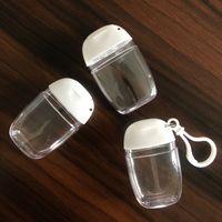30ML Mini desinfectante para manos botella de plástico botella de desinfectante de manos flip Body Wash Champú Titular de viaje portátil de perfume botellas de muestras reutilizable