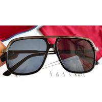 0200 النظارات الشمسية الأزياء مع حماية الأشعة فوق البنفسجية للرجال والنساء خمر حار selli ساحة المعادن الإطار الكامل شعبية أعلى جودة تأتي مع القضية