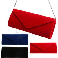 Evening Bags New 1Pc Ladies Velvet Evening Clutch Handbag Ba...