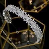 Горячие продажи Bridal Zircon Crowns Wedding Tiaras для волос Ювелирные изделия Диадема Tiara de Noiva Corona Nuppcial Свадебные аксессуары