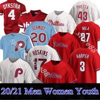 Personnalisé Philadelphie 2020 Phillies Jersey 3 Bryce Harpe 17 Rhys Hoskins 10 JT RealMuto Hommes Femmes Nom Nom N'importe quel numéro Jersey cousu