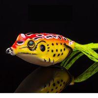 1 шт. 6G 4.5см лягушка мягкая приманка рыболовные приманки с круглыми крючками верхняя вода Ray лягушка искусственный гонний кривошип кренк сильных искусств Jlljpi