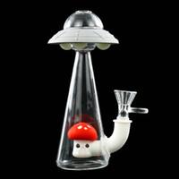 UFO Su Boruları petrol kulesi glass bong silikon sigara eli su borusu Silikon Petrol Kuyuları Bong Nargile Ücretsiz Cam kase su borusu bong