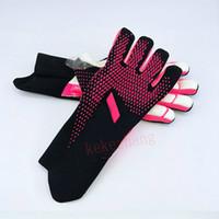 Los guantes de portero de fútbol profesional grueso de látex antideslizante Guantes de portero de fútbol Sin Tamaño del dedo Protección hijos adultos