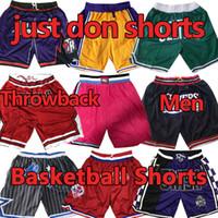 شورت كرة السلة مخيط فقط دون السراويل ليبرون كارتر ميتشل نيس جميع فرق Sweatpants Pantalones de Baloncesto
