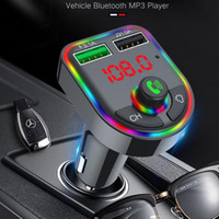 F6 Car Charger 5. 0 Bluetooth FM Transmitter RGB Atmosphere L...