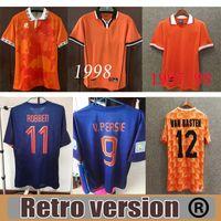 1988 89 91 95 96 Jersey de futebol Retro Países Baixos Marco Van Basten Gullit 97 98 Voetbal Camiseta Seedorf Bergkamp Holland Kluivert Robben 2012