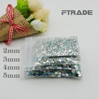 2000 unids de alta calidad 2mm-5mm (SS6-SS20) Transparente AB Back Resin Rhinestone DIY Nail Decoration Accesorios