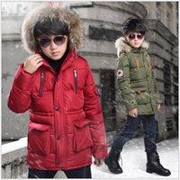 소년 코트 아이 겨울 자켓은 긴 후드면 자켓 디자이너 아이 옷 아기 소년 재킷을 두껍게