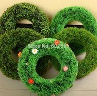 إكليل الزهور الزخرفية SPR 6 أنماط صغيرة الحجم الزفاف خاتم العشب الاصطناعي روزيت البلاستيك الحديقة الداخلية الداخلية إي المشروعات نافذة فرن