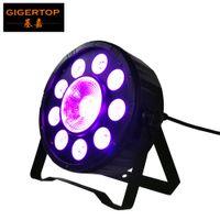 TIPTOP Свет этапа 9 + 1 Digit PAR света RGB Пластик Тонкий LED PAR Стаканчики 3в1 цвет 9 * 3W + 1 * 30W DMX 6CH Двойной кронштейн Arm легкий вес