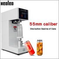 Máquina de selagem de alimentos vácuo Xeoleo 55mm latas selador Bebida Bebida Bebida Selo para 330ml / 500 / 650ml Leite / Café CAN 220V / 110V1