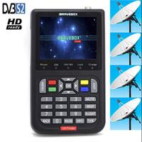 """Ibravebox V8 Finder HD Satellite Finder DVB S2 Digital H.264 Full 1080P FTA 3.5 """"LCD-ingebouwde 3000mAh batterij SAT Finder Meter"""