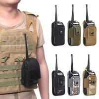 Tactical Molle Radio Walkie Talkie Borsa in vita Borsa da tasca Pocket Interphone Holster Borsa da trasporto per sport all'aperto Caccia da campeggio