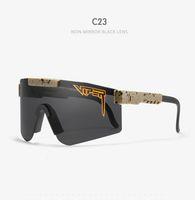 70% Rabatt auf den neuen neuen Pit Viper Sport Sonnenbrillen Männer Polarisierte Outdoor Eyewear TR90-Rahmen UV400 Schutz Schwarzes Objektiv C23