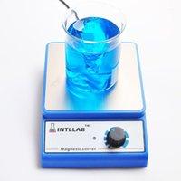 실험실 LCD 디지털 디스플레이 마그네틱 교반기 화학 액체 믹서 교반 바 아니 방열판 핫 플레이트 1000ml 100V-240V1