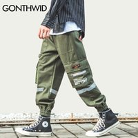 Gonthwid Yan Fermuar Cepler Kargo Harem Joggers Pantolon Streetwear Erkekler Harajuku Hip Hop Hipster Rahat Baggy Sweatpants Pantolon 210201