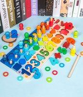 مونتيسوري لعب للأطفال عدد كتل الصغار عد الرياضيات العد خشبية التعليمية لعبة الشكل فارز لغز لوحة بانوراما الطفل اللعب