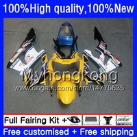 Corpo para a Honda CBR 929RR 900 929 RR 900RR 900cc 929CC 00 Yellow branco 01 50HM.52 CBR900RR CBR929 RR CBR900 RR CC CBR929RR 2000 2001 Fairing