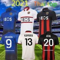 20 21 Maillot de pie OGC Nice Fútbol Jersey 2020 2021 Atal Dolberg Pierre Lees-Melou Gouiri Ignatius Ganago Wylan Rony Lopes Camisa de Fútbol