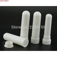 Freeshipping 500sets colorido inalador nasal em branco varas, inaladores de aromaterapia de plástico, varas (pavias de algodão)