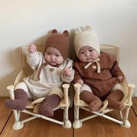 Milancel Baby Kleidung Nette Bär Baby Body Herbst Neue Jungen Ein Stück Kleinkind Mädchen Outfit1