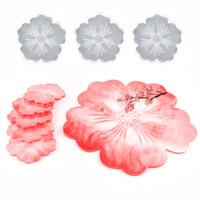Tè vassoio per cassettine stampo tuta a forma di fiore a forma di fiore cristallo in resina epossidica in resina in silicone in silicone bianco fai da te nuovo modello vendita calda 32qz J2