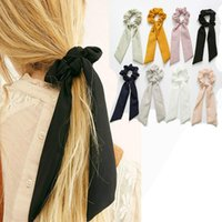 Brow Streamers Hair Bague Fashion Ruban Girl Girl Bands Scrunchies ForfeAil Cravate Solide Headwear Accessoires1
