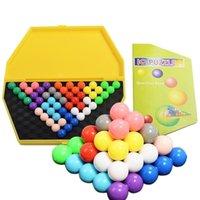 IQ منطق الهرم الخرز لغز 3d العقل مضايقات الدماغ للأطفال لعبة تعليمية للأطفال البالغين Y200413
