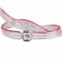 DHL 50pcs SMD 5050 LED de la puce de puce de LED pré-soudée WS2812B Adressable RGB LED de la bande de bande de bande de bande de bande de cordes de bande avec fil de 12cm WS2811 IC 5V
