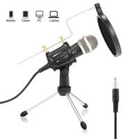 3,5mm Stecker Kondensatormikrofon Mic Play Home Studio Podcast Gesangsaufzeichnung Mikrofone für iPhone Laptop-PC-Tablet-Mikrofon