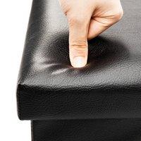 Mobili soggiorno pratico in pelle PVC in PVC classico impermeabile nero di alta qualità resistente e sicuro poggiapiedi
