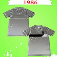 Newcastle United jersey NEWCASTLE 1986 1987 RETRO maillots de football cru maillots de football classique 86 87 maison loin de qualité unie Thaïlande gris