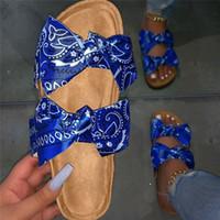 샌들 여름 여성 2021 신발 여성 코르크 플랫 숙 녀 패션 비치 브랜드 샌들 Sandalias Mujer
