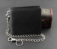 Mens Stud Alligatorart-Punk Biker Wallet mit langer Hip Hop Kühle Purse