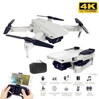 Best 4K HD Camera RC Mini Pieghevole Drone con WiFi Live FPV Selfie Flusso ottico Flusso stabile Altezza stabile Vola Quadcopter RC Helicopter 201105
