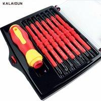 Kalaidun 14 في 1 مفك مجموعة متعددة الأغراض كهربائي كهربائي معزول كهربائي الناحية الكهربائية مجموعة أدوات إصلاح كيت T200602