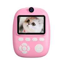 Çocuklar Mini Dijital Kamera Oyuncak Desteği Selfie'ler Video 2 inç HD ekran Kız Boy için Taşınabilir Fotoğraf Yazıcı sahne