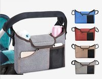 DHL 100pcs Universal Baby Stroller Bag Travel Diaper Bags Baby Carriage Pram By Cart Bottle Bag Accessories