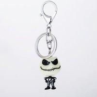 새로운 크리스마스 잭 스켈링 턴 스테인레스 스틸 반지 패션 쥬얼리 키 체인 여성 선물하기 전에 키 체인 악몽을 3D