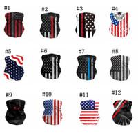 Maschere America bandiera Sport Bandana Sciarpa biciclette Metà maschere per il viso Cover Design Visiera in bicicletta Viso all'aperto Headwrap Sciarpa IIA705