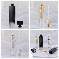 5ml Lip Gloss tubi chiari Svuotare Lip Gloss tubo Lip Gloss Viaggi Bottiglia Packaging contenitori riutilizzabili Lipgloss Bottiglie RRA3813