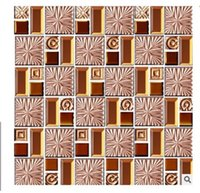 2021 Gorąca sprzedaż galwanicznie szkła mozaika ściana złota lustro mozaika europejska jadalnia salon ganek mozaika płytka 002