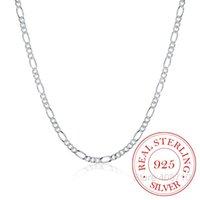 Italien Made 925 Sterling Silber Figaro Kette 2mm Slim Choker Halskette Frauen Schmuckkolye Collier Collares Ketting Colar 40-60cm