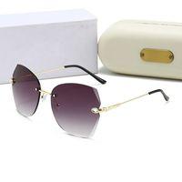 2020 Gafas de sol redondas de alta calidad de la moda de la moda para hombres, mujeres, deporte de los hombres elegantes, gafas de sol de oro metálicas envío gratis