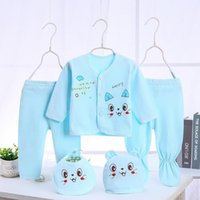 Bekamille 유아 신생아 아기 세트 (5pcs / set) 부드러운 의류 면화 패션 소년 소녀 정장 LJ201023