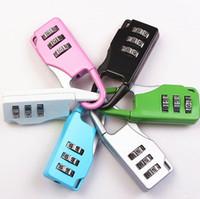 Torby Bagaż Drzwi Kłódka 3 Dial Digit Cyft Secret Safe Code Hasło Blokady Bookbag Anti-Theft Plecak Zipper Kłódka DHL