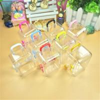 Neue Kunststoff Mini Reise Koffer Form Candy Box Favor Zinn Box Sundies Organizer Container Hochzeit Dekoration 6farben